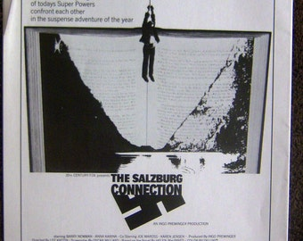 """Near mint Press material for 1972 movie """"The Salzburg Connection"""""""