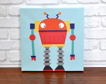 Robots Rule Phil - Canvas Wall Art