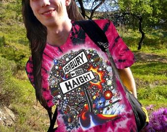 Haight Ashbury Tie dye t-shirt men's tee