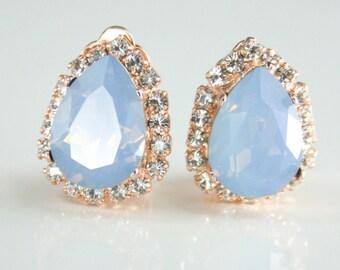 Crystal clip-on earrings, Crystal clip earrings, Swarovski clip on, Clip on earrings, Non pierced earrings, Clip earrings,Rhinestone clip on