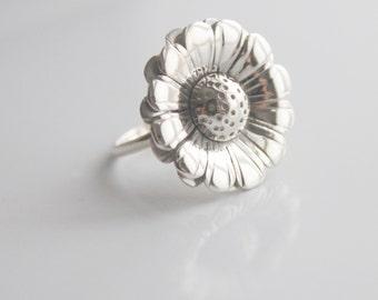 Handmade Silver Daisy Ring.