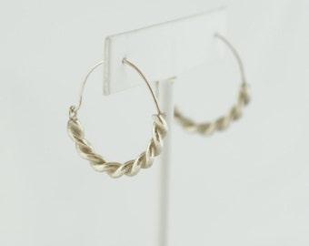 Silver Hoop Earrings Handmade by Jenn Dixon Jewelry
