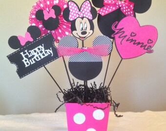 Minnie Mouse Happy Birthday Centerpieces