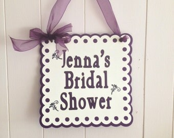 Bridal Shower Door Sign, Bridal Shower Decorations/Bride to Be Sign/Banner, Vintage Bridal Shower Banner.  Can be customized.
