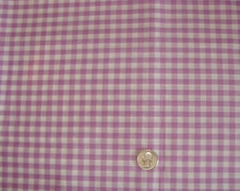 Lavender and White Checker Cotton fabric bty