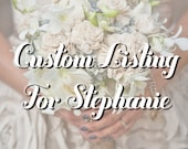 Reserved listing for Stephanie - Showflake Ornament