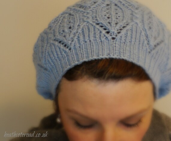 Knitting Pattern Lace Beret : Fur Elise Cable & Lace Beret Hand Knitting Pattern pdf