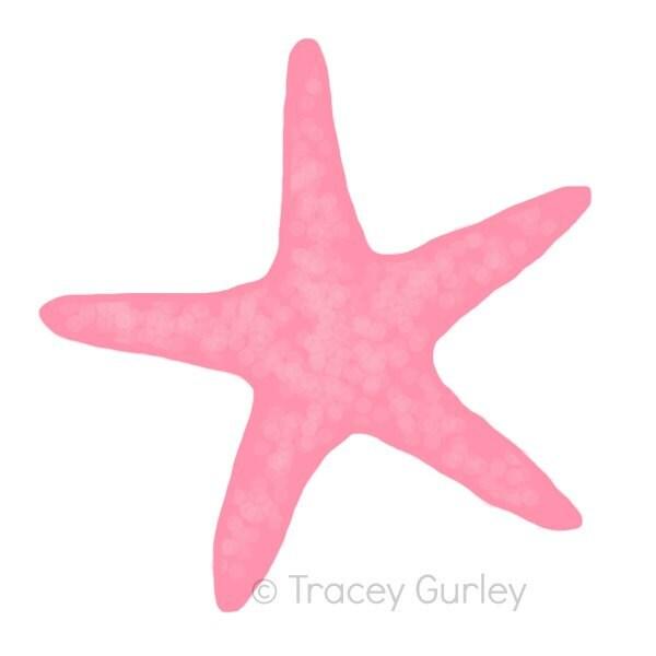 Clip Art Starfish Clip Art starfish clip art etsy pink original download 2 files beach art