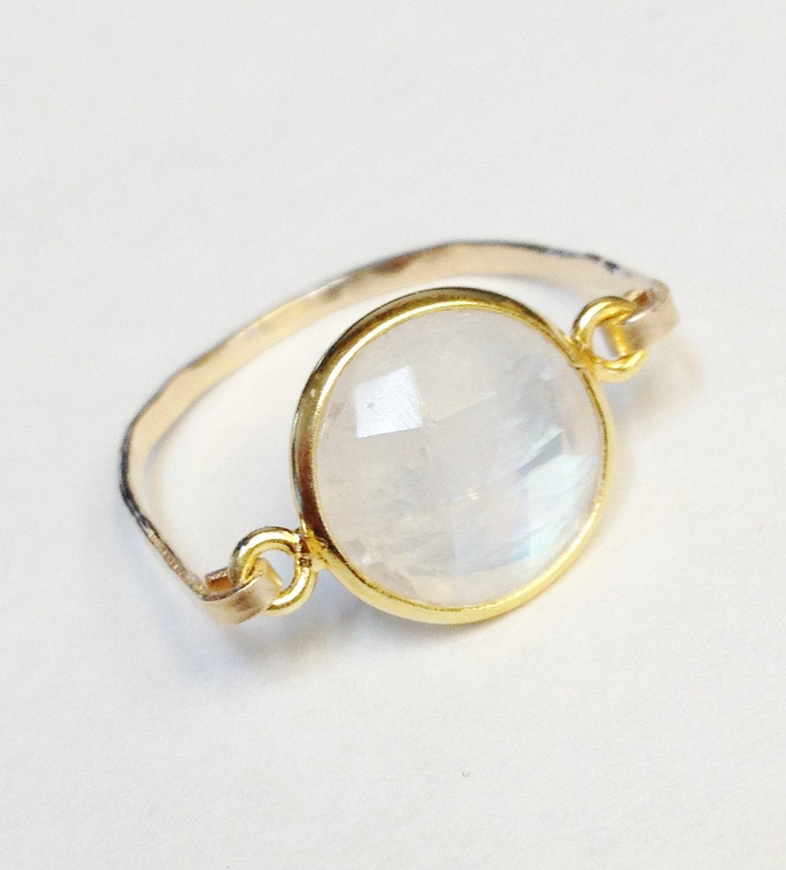 moonstone ring moonstone jewelry 14k gold by bridalbliss1
