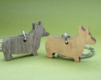 Welsh Corgi Pembroke Keychain - Corgi Keychain - Corgi Gifts - Corgi Lovers Gifts - Pets Keyring - Dog Tag - Corgi Tag - Wood Dog Keychain