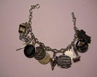 Vintage Silvertone Tops Charm Bracelet