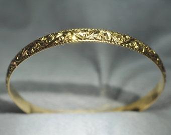 18K Yellow Gold Bangle Bracelet.  Free Shipping in the U.S.
