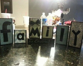 Family Wood Blocks - Custom Wood Blocks - Personalized Wood Blocks