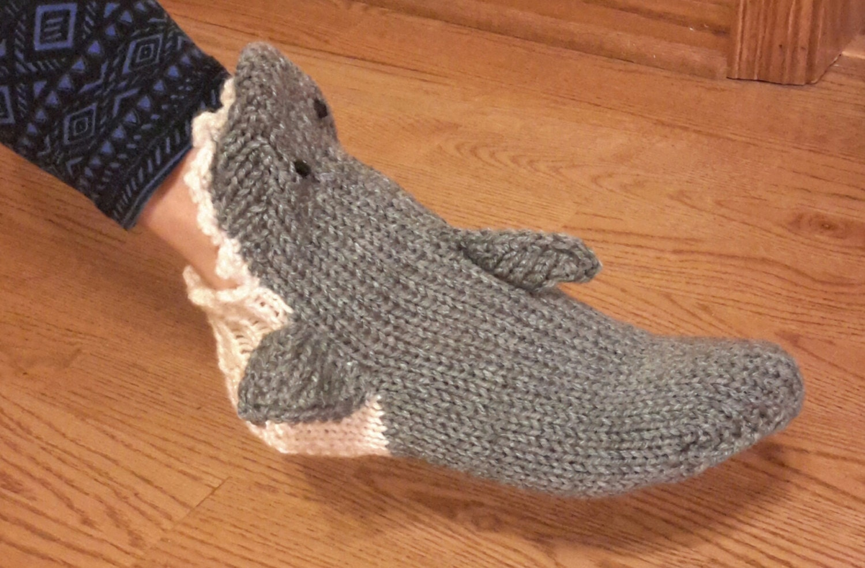 Knitted Shark Socks Pattern : Lighting