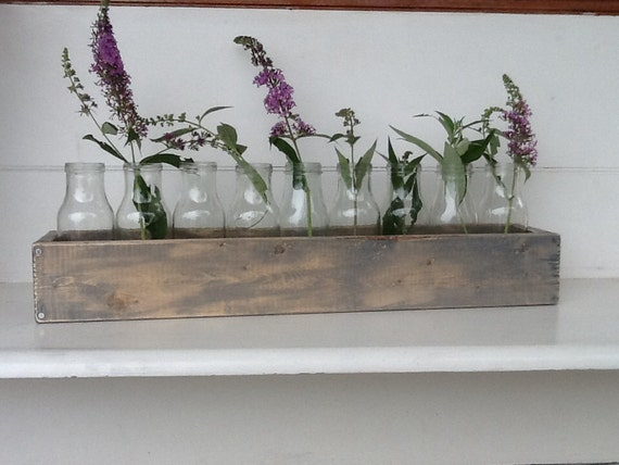 Items similar to inch wooden trough centerpiece in