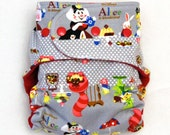 All In Two Cloth Diaper with Aice in Wonderland  - One Size Fits Most Babies