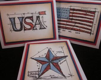 USA Patriotic Card Set