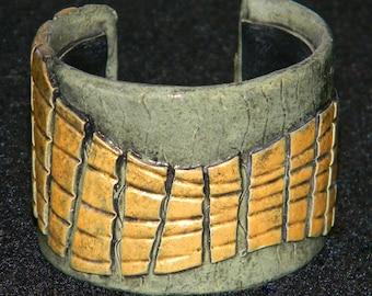 Cuff Bangle Bracelet Boho Polymer Clay Mid Century Modern Retro Jewelry CIRCULATE20 by Donna Pellegata ArtCirque