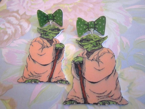 yoda Earrings for geekettes
