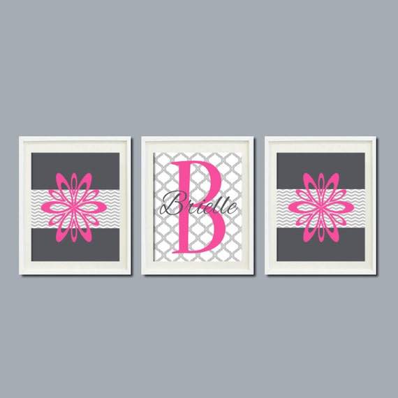 Dorm Room Wall Decor Etsy : Teen room decor floral chevron monogram name by