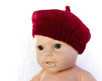 Knitted Beret Pattern Toddler : Kids beret Etsy