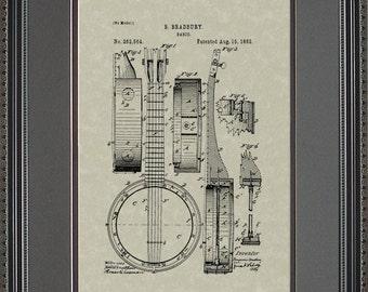 Banjo Patent Artwork Player Musician Gift B2564
