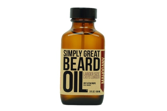 Beard Oil MAHOGANY Scented Beard Oil For Men Made with Natural Oils Great Holiday Gift for Him for Movember