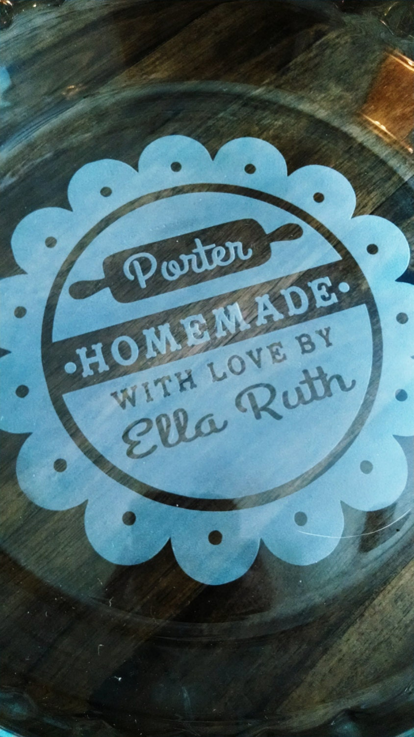 Flash Sale Etched Pie Plate Homemade With Love By Sepboutique
