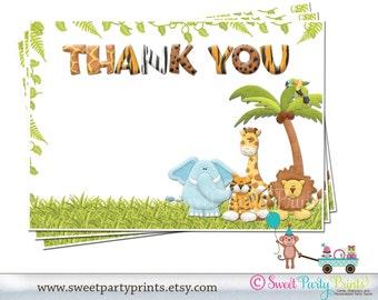 Jungle Thank You Card - Personalized  ( SKU: JTCBO1 )