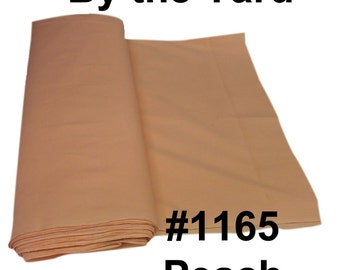 """45"""" Apricot/Peach Broadcloth Fabric - By The Yard"""