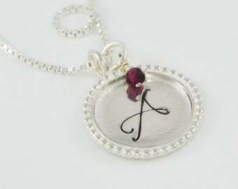 Custom Initial Sterling Silver Necklace