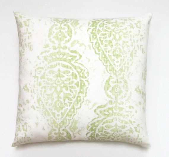 16x16 Decorative Pillow Covers : Manchester Green Pillow 16x16 Pillow Cover Green Decorative