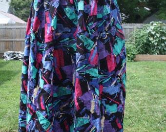 Vintage multicolor maxi skirt