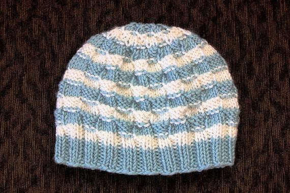 Simple Basket Weave Knitting Pattern : Knitting pattern only simple basket weave baby hat from