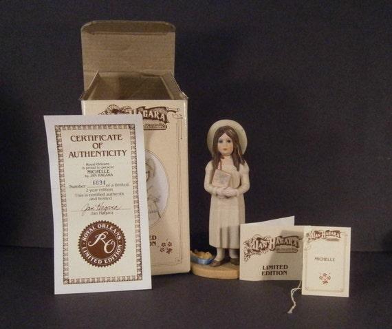 Jan Hagara Figurines: Jan Hagara Figurine Michelle 6094 Vintage 1984 1985