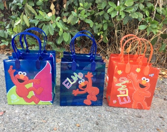 Elmo Party Favor Bags - 12 Candy Bags