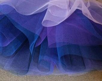 Midnight Multi-Coloured Tulle Petticoat/Underskirt 50cm length Adult Sizes