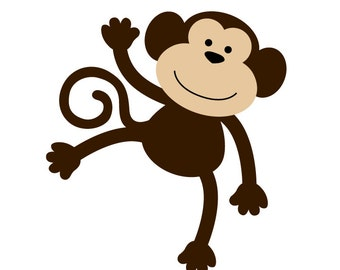 Monkey Applique PDF Pattern