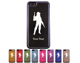 Personalized Engraved Pirate with gun Aluminum Case for iPhone 5c, 6, 6 plus