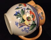 Vintage Japanese Lusterware Floral Pitcher