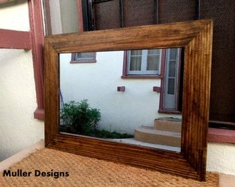 wood mirror  wall mirror