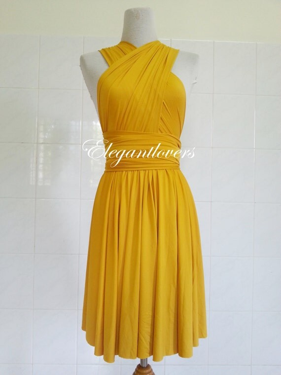 Infinity wrap dress yellow