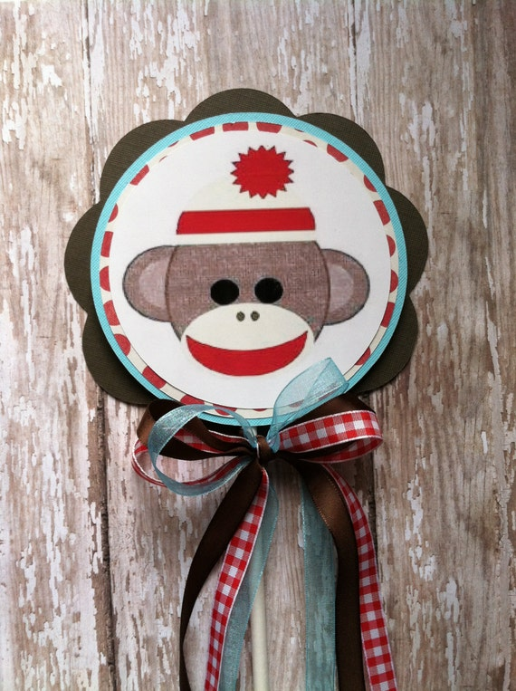 Etsy Sock Monkey Cake Topper