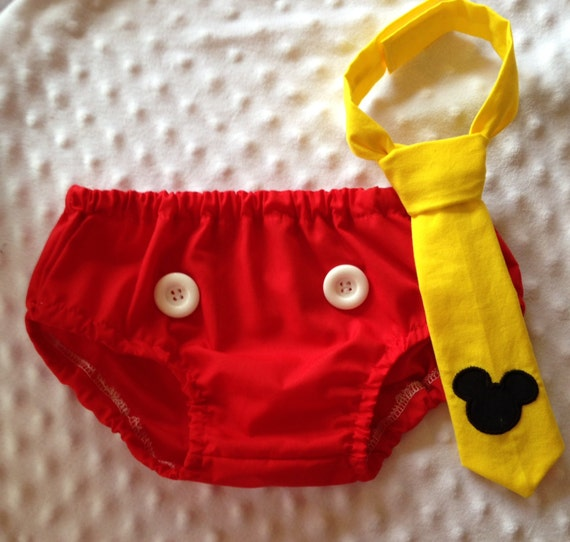 Cake Smash Outfit Mickey Mouse Diaper Cover & By