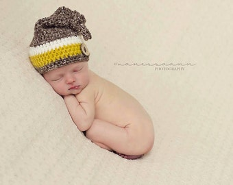 Crochet Knotted Sleeper Hat, Pixie Hat, Elf Hat