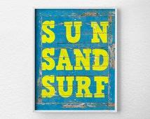 Surfing Print, Beach Art, Typography Poster, Surfing Art, Beach Sign, Surfing Poster, Surf Decor, Summer Decor, Summer Art, 0220