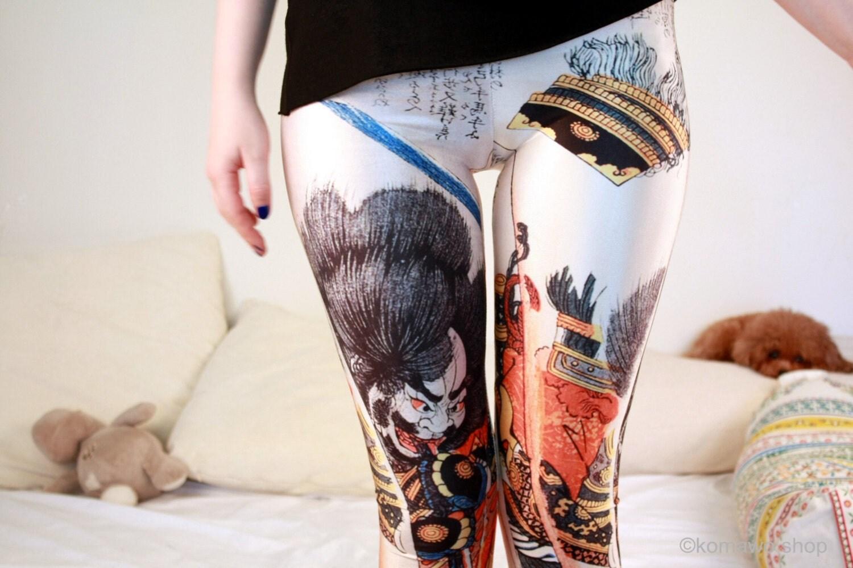 SAMOURAÏ japonais LEGGINGS / Fitness Leggings Sexy Funky par KOMAWO