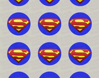 Superman S Shield Logo Inspired Edible Icing Cupcake Decor Toppers - SPM1
