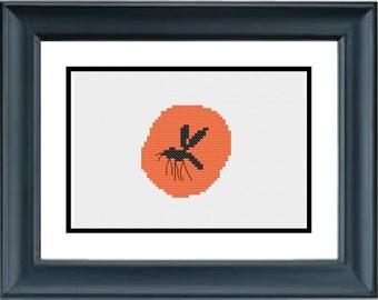 Insect in Amber - Jurassic Park - Dinosaur - PDF Cross-Stitch Pattern
