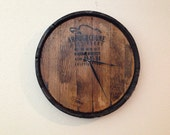 Bourbon Whiskey Barrel Reclaimed Wood Wall Clock -- MADE TO ORDER